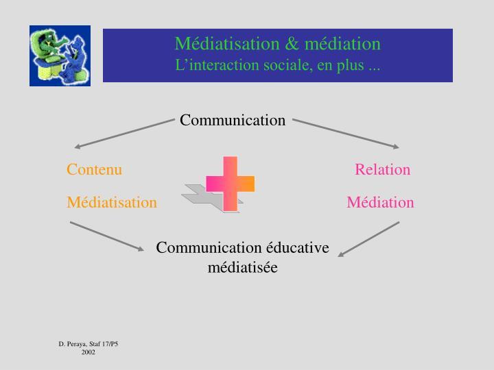 Médiatisation & médiation
