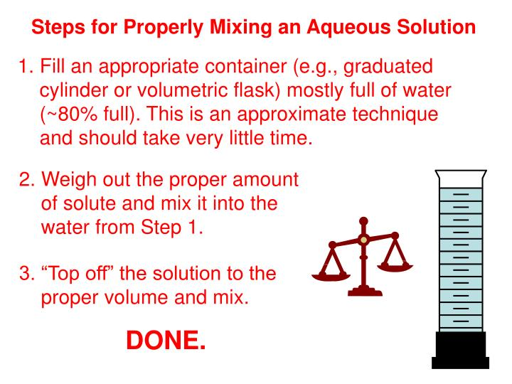 Steps for Properly Mixing an Aqueous Solution
