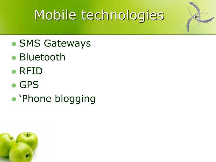 Mobile technologies
