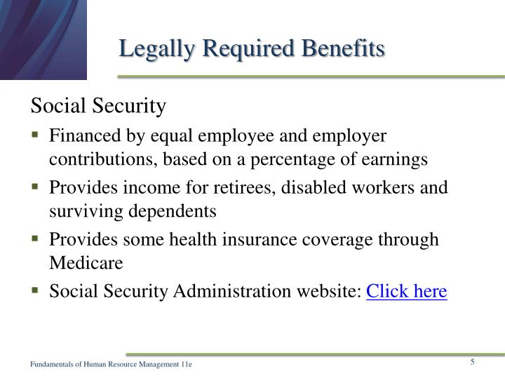 Legally Required Benefits