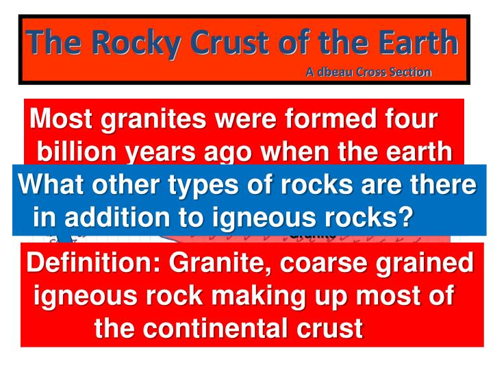 The Rocky Crust of the Earth