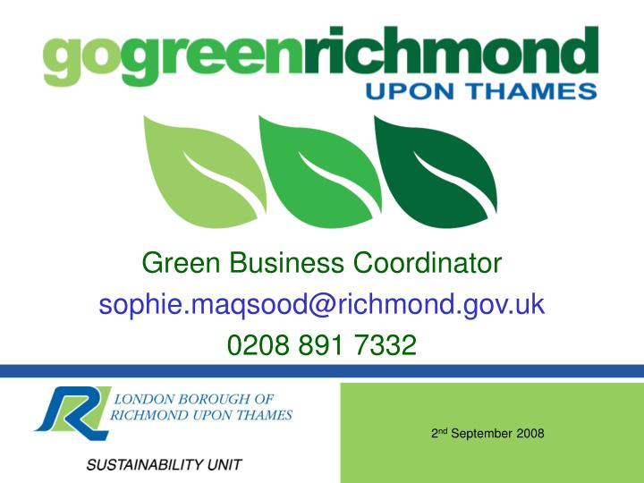 Green Business Coordinator