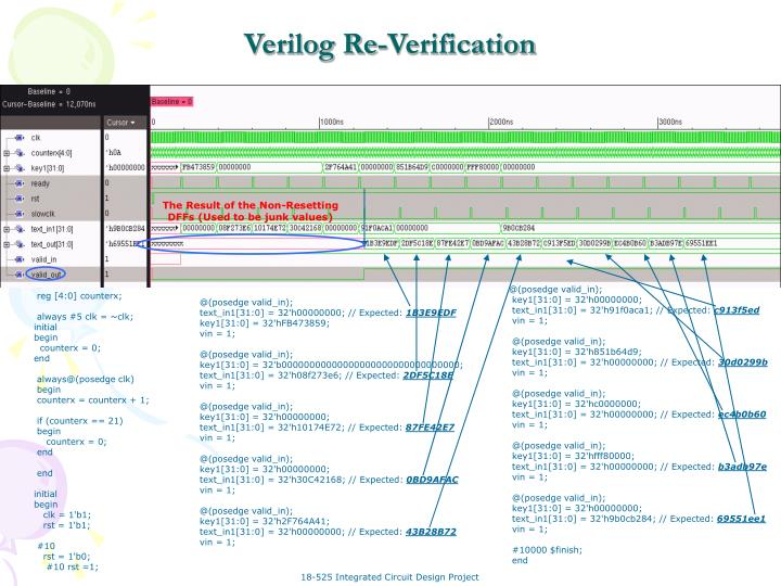 Verilog Re-Verification
