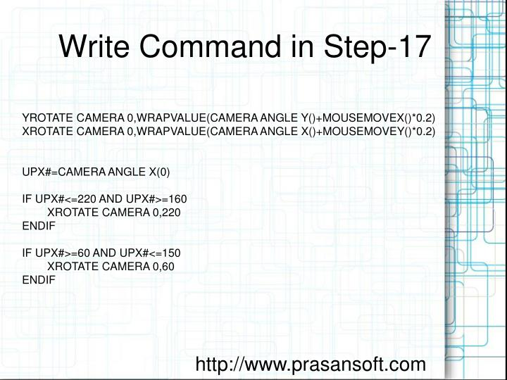Write Command in Step-17