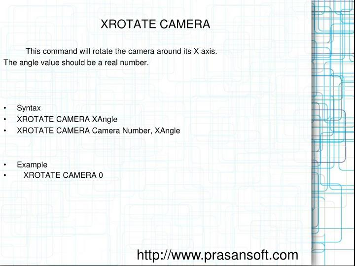 XROTATE CAMERA