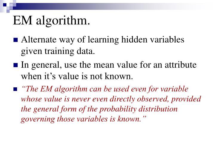 EM algorithm.