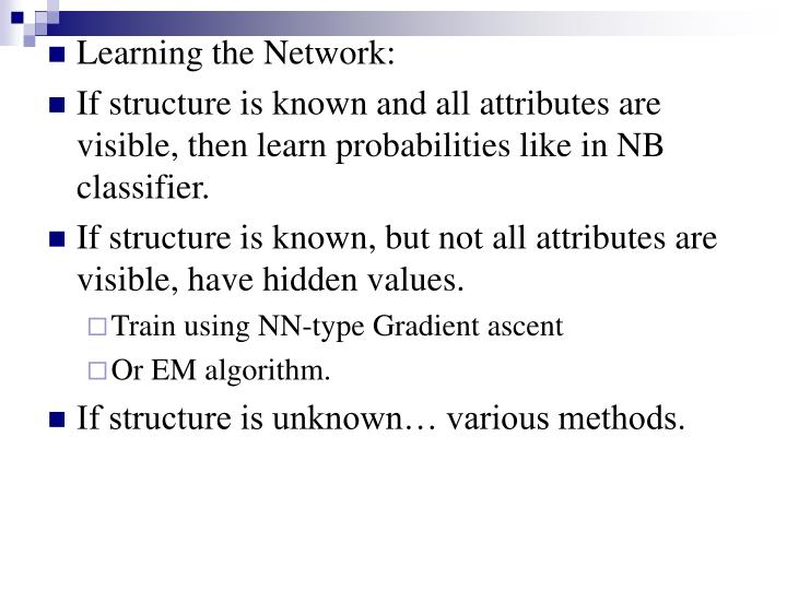 Learning the Network: