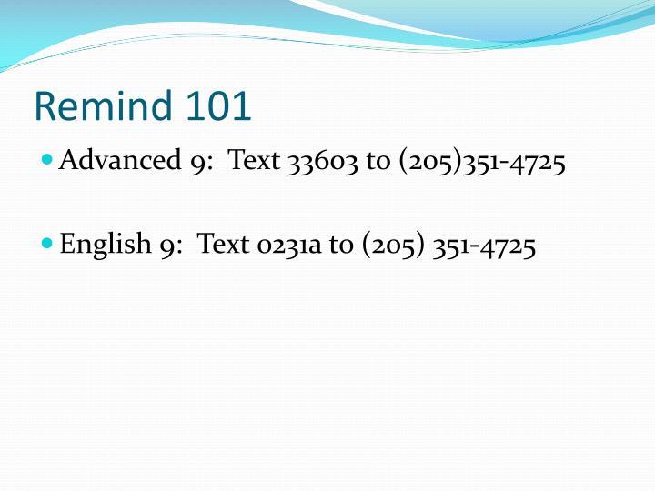 Remind 101