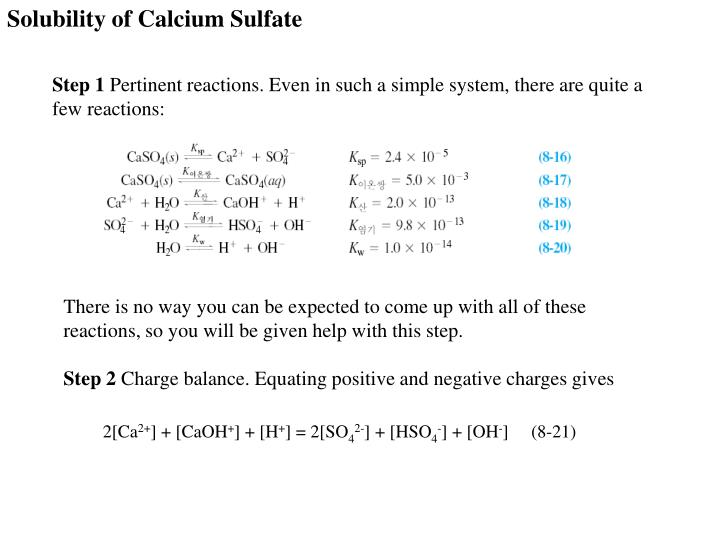 Solubility of Calcium Sulfate