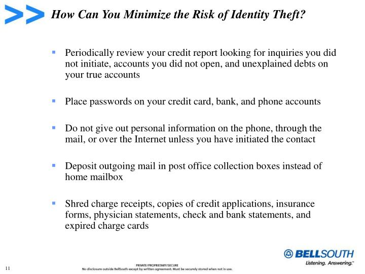 How Can You Minimize the Risk of Identity Theft?