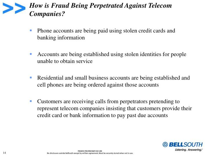 How is Fraud Being Perpetrated Against Telecom Companies?