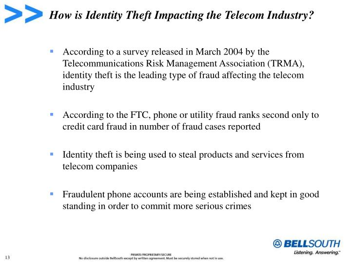 How is Identity Theft Impacting the Telecom Industry?