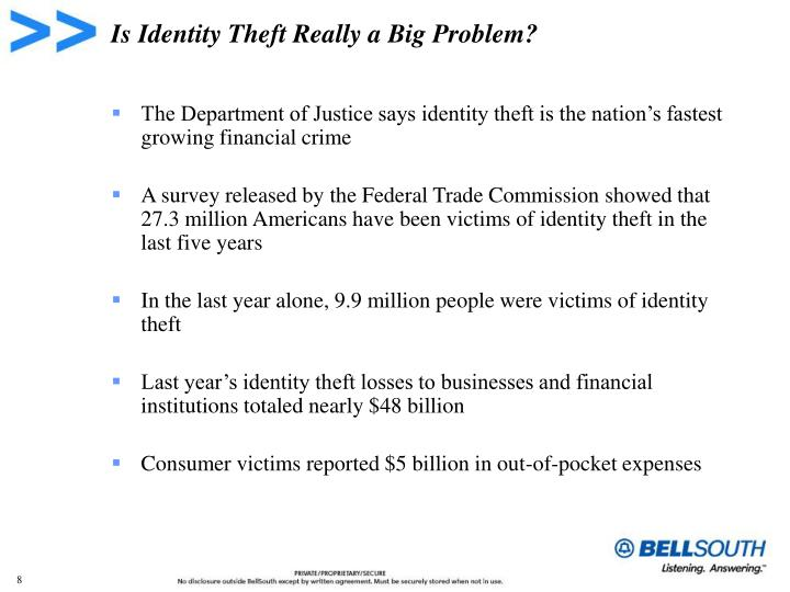 Is Identity Theft Really a Big Problem?