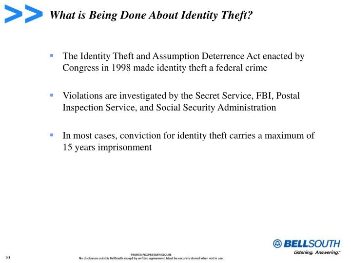 What is Being Done About Identity Theft?