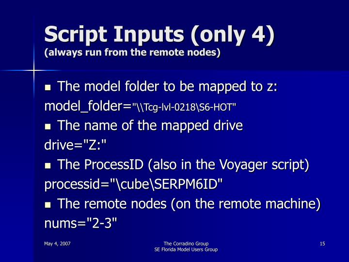 Script Inputs (only 4)