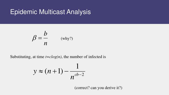 Epidemic Multicast Analysis