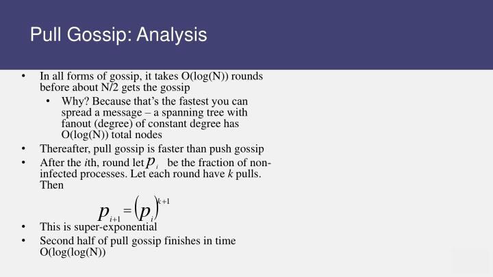 Pull Gossip: Analysis