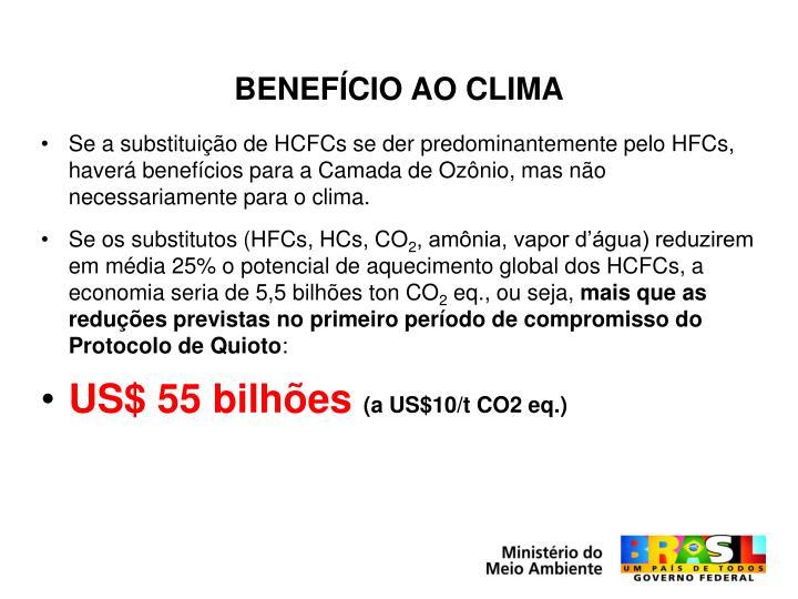 BENEFÍCIO AO CLIMA