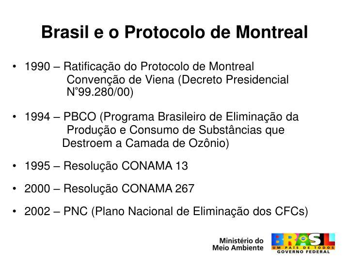 Brasil e o Protocolo de Montreal