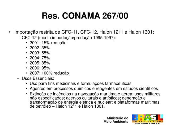 Res. CONAMA 267/00