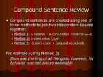 compound sentence review