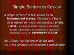 simple sentences review