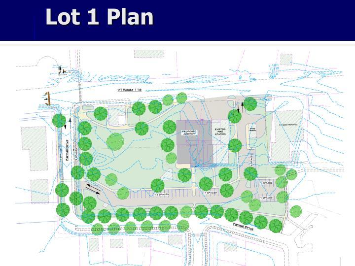 Lot 1 Plan