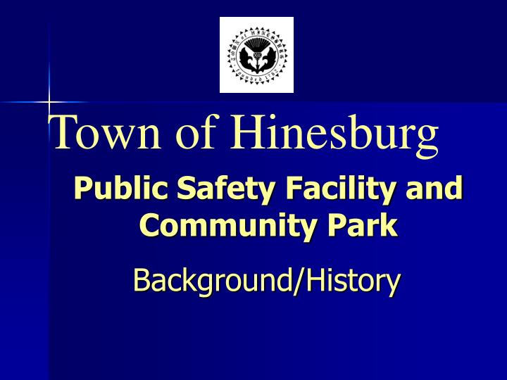 Public safety facility and community park