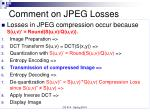 comment on jpeg losses