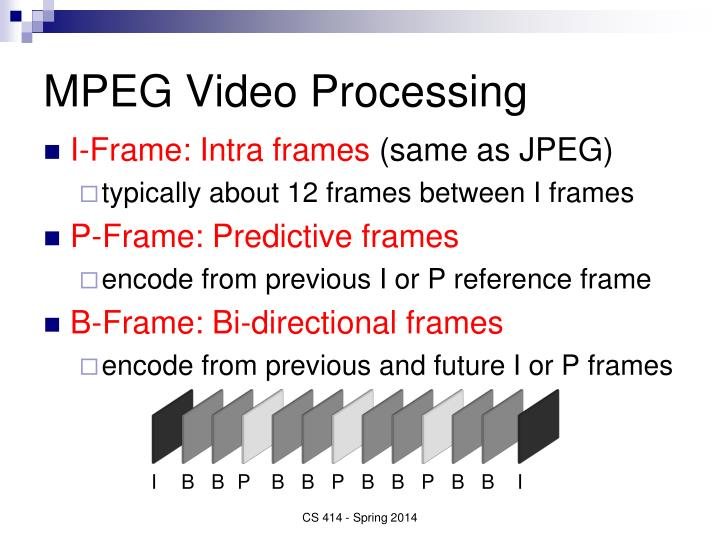 MPEG Video Processing