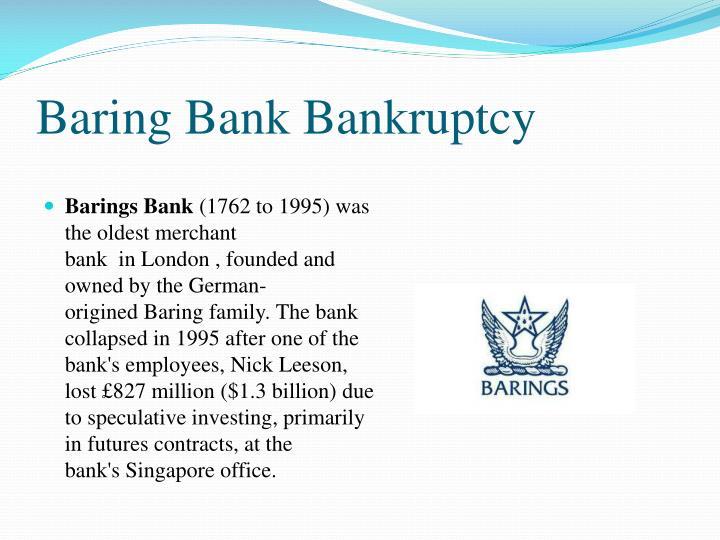 Baring Bank Bankruptcy