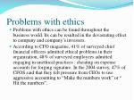 problems with ethics
