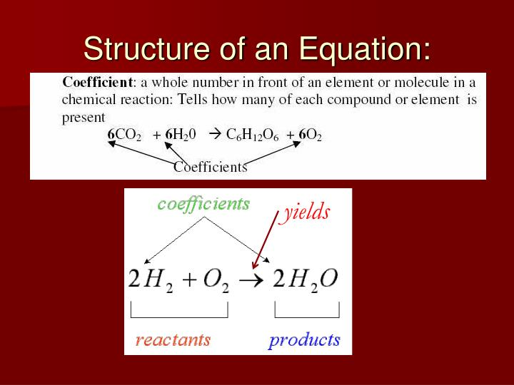Structure of an Equation: