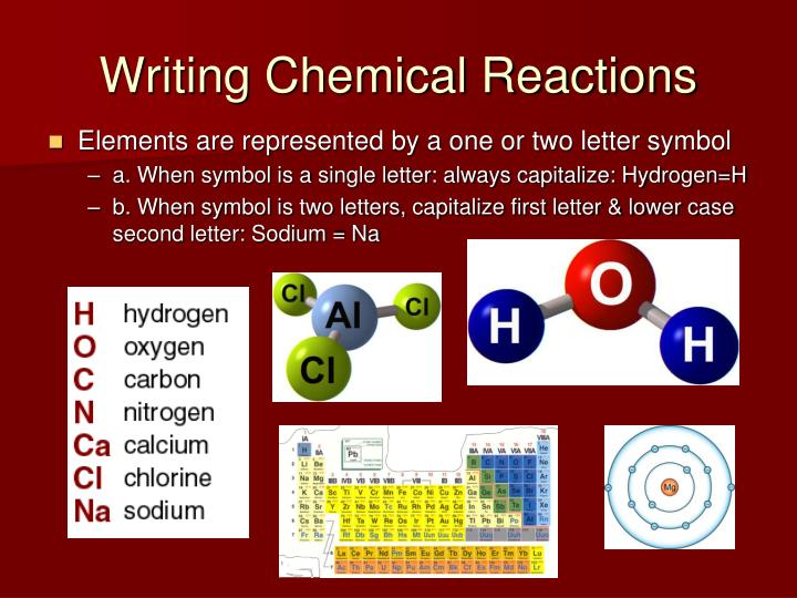 Writing Chemical Reactions