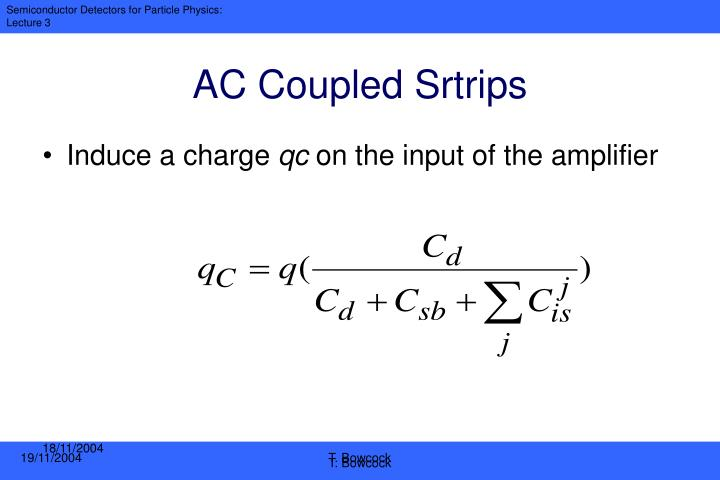 AC Coupled Srtrips