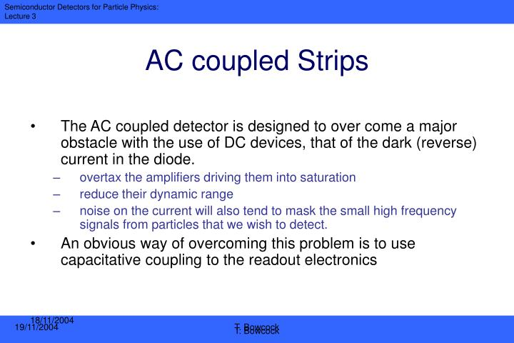 AC coupled Strips