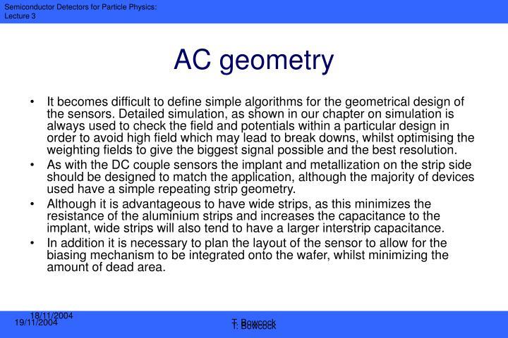 AC geometry