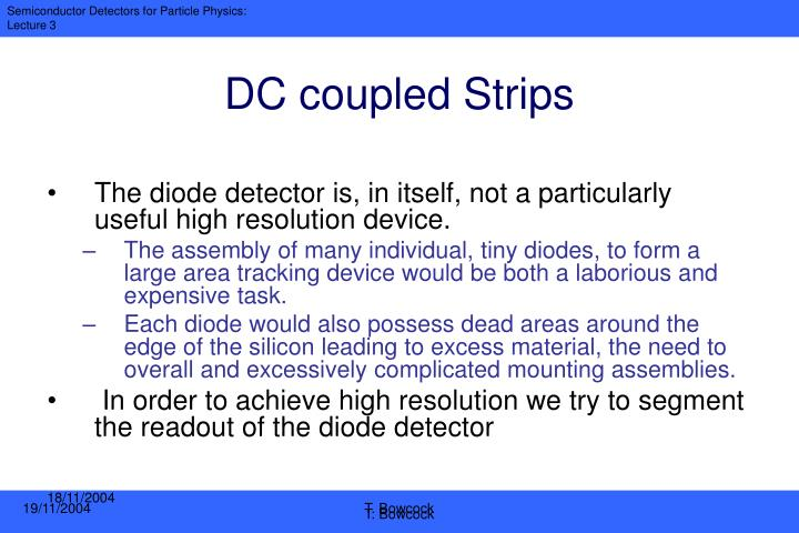 DC coupled Strips