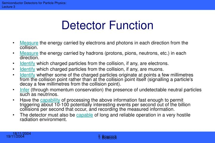 Detector Function