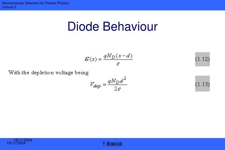 Diode Behaviour