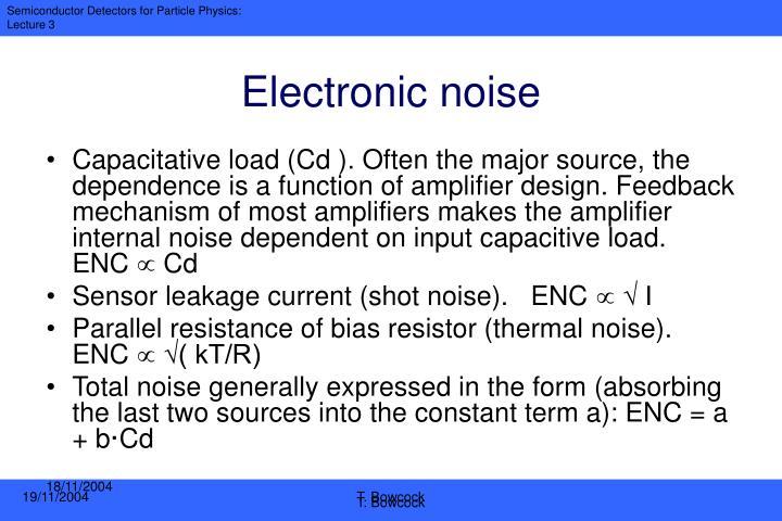 Electronic noise
