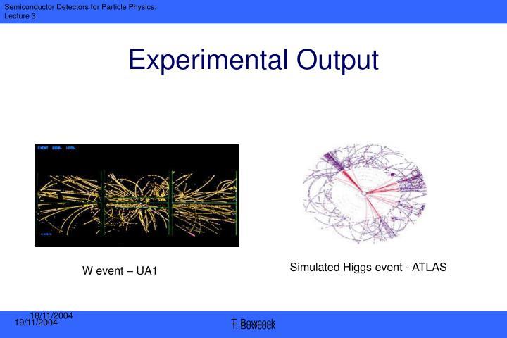Experimental Output