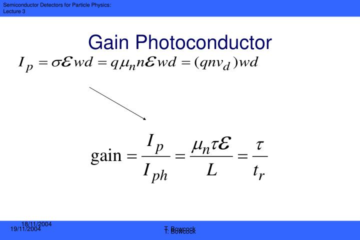 Gain Photoconductor