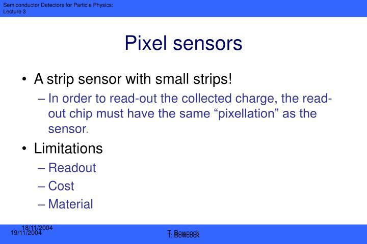 Pixel sensors
