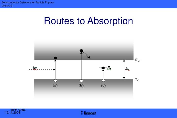 Routes to Absorption