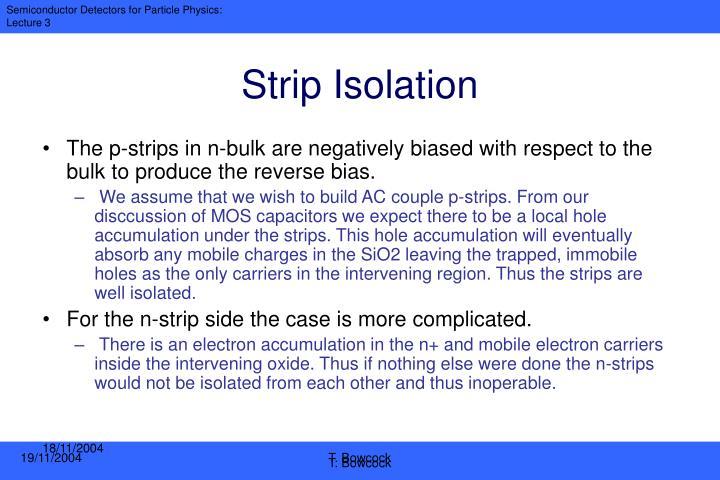 Strip Isolation