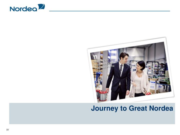 Journey to Great Nordea