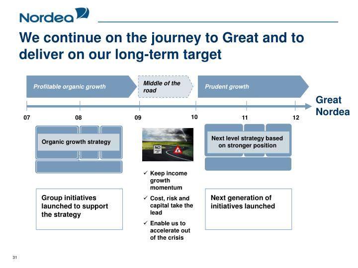 We continue on the journey to Great and to deliver on our long-term target