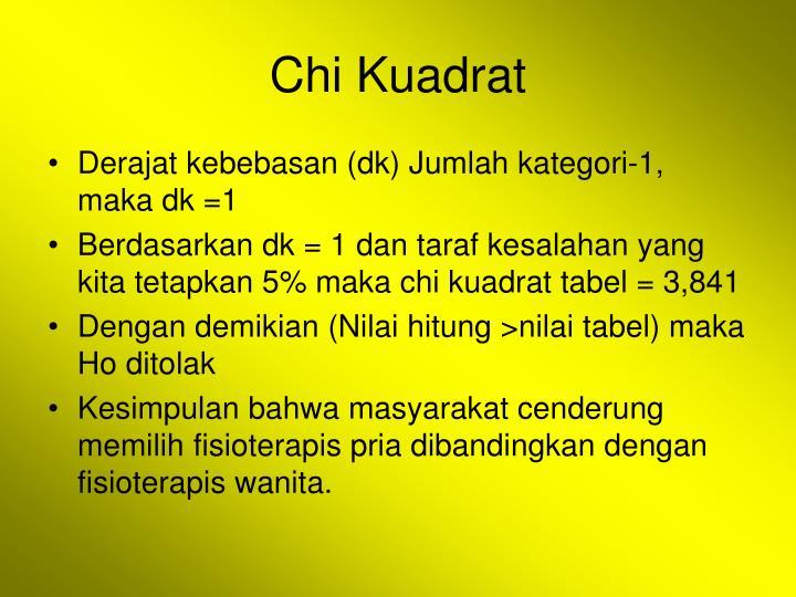Chi Kuadrat