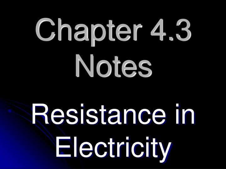 Chapter 4.3 Notes